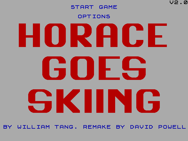 Horace Goes Skiing Remake Title Screen